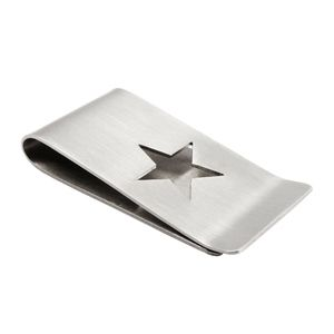 Stainless Steel Money Clip With Cutout Star